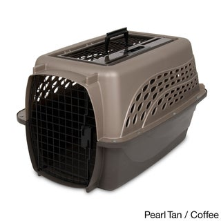 Petmate 2-door Top Load Kennel (Option: Brown/Tan - Medium)