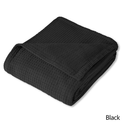 Cotton Basket Weave Blanket 100-percent Cotton
