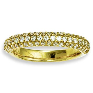 Versil Yellow Gold over Silver 61-stone Cubic Zirconia Ring