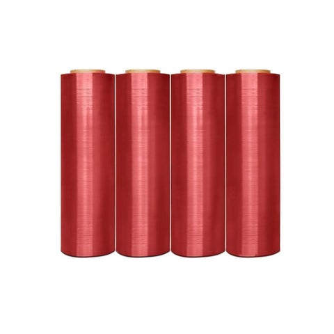(4 Roll) Anti-Stat Hand Stretch Wrap Shrink Film Pink 18 In 1500 Ft 80 Ga