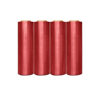 Anti-Stat Hand Stretch Wrap Shrink Film Pink 18 In 1500 Ft 80 Gauge (40 Rolls)