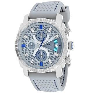 Oceanaut Men's OC2325 Kryptonite Round Grey Rubber Strap Watch