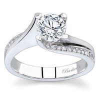 Barkev's Designer 14k White Gold 1 1/6ct TDW Round-cut Diamond Engagement Ring