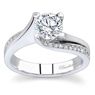Barkev's Designer 14k White Gold 1 1/6ct TDW Round-cut Diamond Engagement Ring