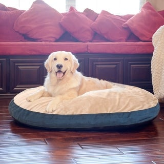 Integrity Bedding Plush Euro Style Pouf Memory Foam Pet Dog Bed