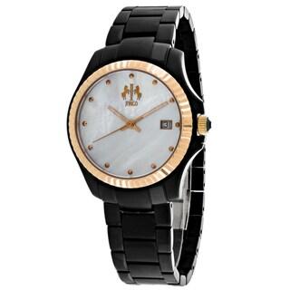 Jivago Women's JV3212B Jolie Round Black Stainless Steel Bracelet Watch