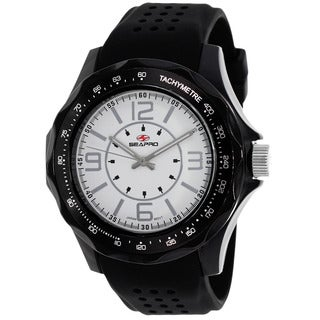 Seapro Men's SP4113 Dynamic Round Black Rubber Strap Watch