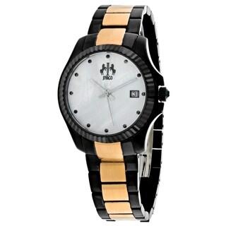 Jivago Women's JV3211T Jolie Round Two-tone Stainless Steel Bracelet Watch