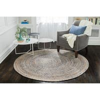 Jani Keira Denim and Jute Hand Loomed Rug - 6'