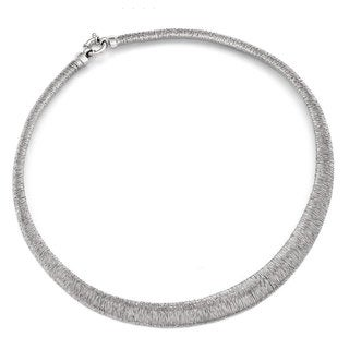 Versil Sterling Silver Polished and Textured Graduated Neck Collar