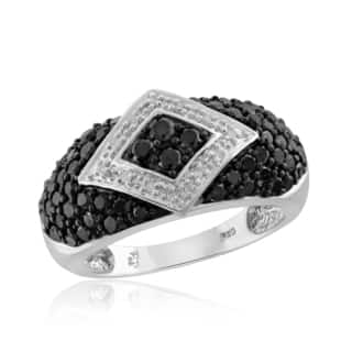 Jewelonfire Sterling Silver 1ct TDW Black and White Diamond Ring|https://ak1.ostkcdn.com/images/products/11606878/P18544584.jpg?impolicy=medium