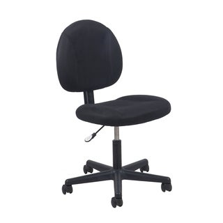 Porch & Den Roland Park Deepdene Adjustable Black Office Chair