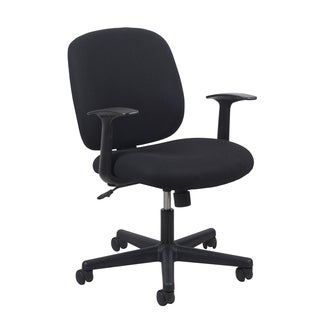 OFM Essentials Upholstered Black Office Chair