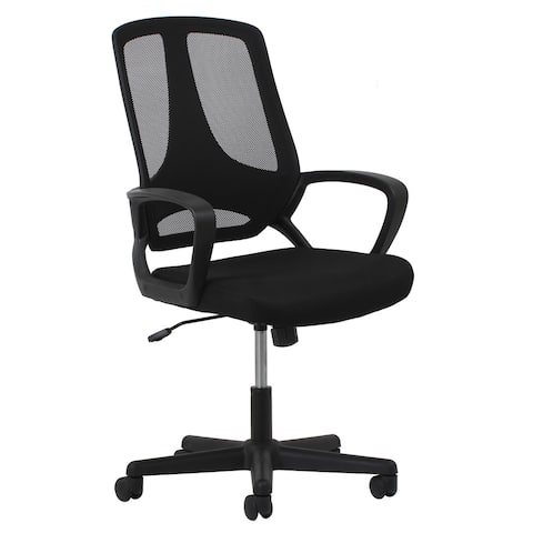 Essentials by OFM ESS-3040 Swivel Mesh High-Back Task Chair with Arms