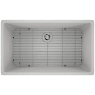 Lexicon Platinum Quartz Composite 32x19-inch Kitchen Sink with Large Single Bowl