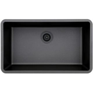 Lexicon Platinum Quartz Composite 32x19-inch Kitchen Sink with Large Single Bowl (5 options available)