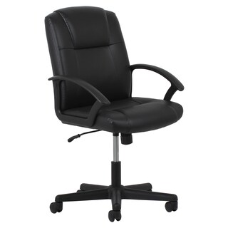 Laurel Creek Phyllis Adjustable Black Leather Office Chair
