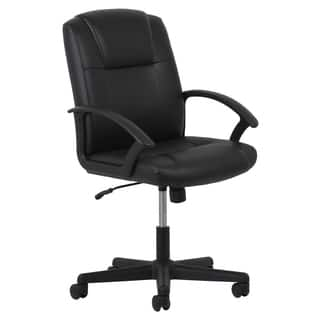 Laurel Creek Phyllis Adjule Black Leather Office Chair