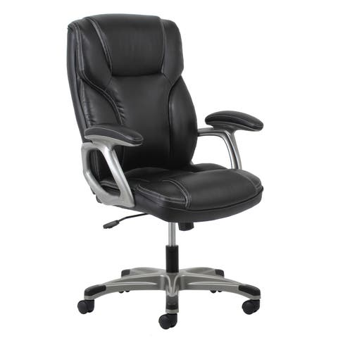 Copper Grove Percy Leather Office Chair with Lumbar Support