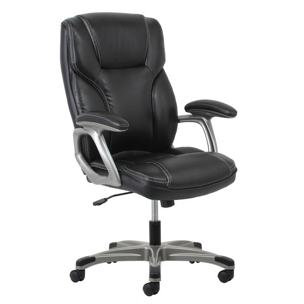 ofm essentials leather office chair with lumbar support free shipping today. Black Bedroom Furniture Sets. Home Design Ideas
