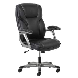 Clay Alder Home Ebey Leather Office Chair With Lumbar Support