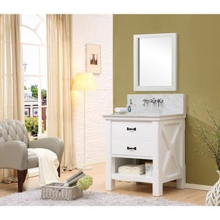 Premium 32 Inch White Vanity