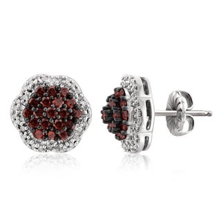 Jewelonfire Rose Gold Over Silver 1ct TDW Red and White Diamond Cluster Earrings|https://ak1.ostkcdn.com/images/products/11606996/P18544697.jpg?_ostk_perf_=percv&impolicy=medium