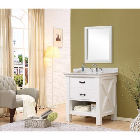 "Direct Vanity Sink Xtraordinary Spa 32"" White Vanity"