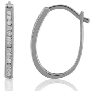Jewelonfire Sterling Silver 1/4ct TDW White Diamond Earrings ( I2-I3)