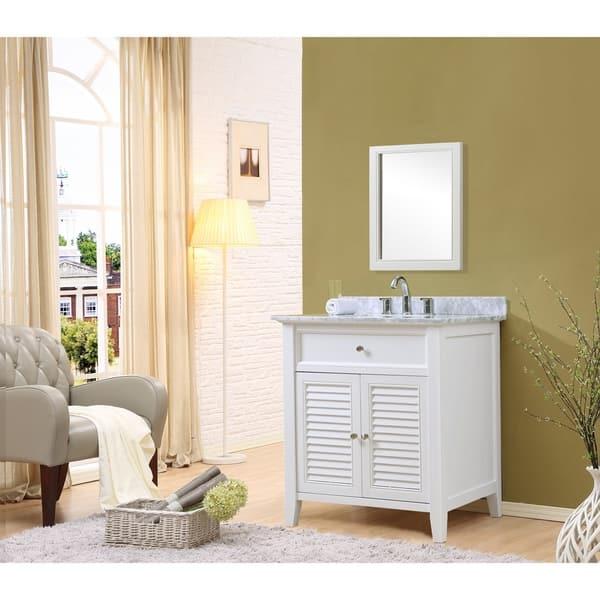Direct Vanity Sink 32 Inch Shutter Spa White