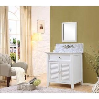 Shutter Premium White Single Vanity (32 inch)