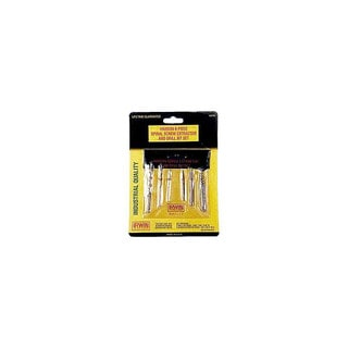 Irwin Hanson 53700 6 Piece Spiral Screw Extractor & Drill Bit Set