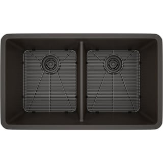 Link to Lexicon Platinum Double Equal Bowl Quartz Composite 32 x 19 x 9 / 9 in. D Kitchen Sink Similar Items in Sinks
