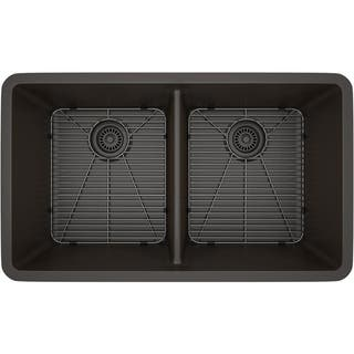 9 inches or more double basin kitchen sinks for less overstock lexicon platinum quartz composite double equal bowl 32 x 19 x 99 inch workwithnaturefo