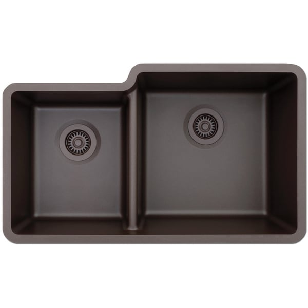 lexicon platinum offset double bowl quartz composite. Black Bedroom Furniture Sets. Home Design Ideas