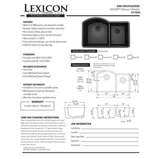 Lexicon PlatinumOffset Double Bowl Quartz Composite 32 x 20-1/2 x 9-1/2 / 8 in. D Kitchen Sink