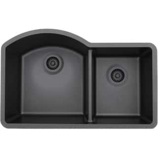 Lexicon Platinum Offset Double Bowl Quartz Composite Kitchen Sink|https://ak1.ostkcdn.com/images/products/11607103/P18544756.jpg?impolicy=medium