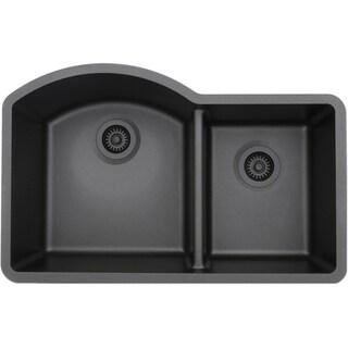 Lexicon Platinum Offset Double Bowl Quartz Composite Kitchen Sink (5 options available)