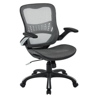 Black Mesh Seat and Back Manager's Chair - N/A