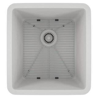 Lexicon Platinum Small Single Bowl Quartz Composite 16-1/2 x 18 x 8 in. D Kitchen Sink (Option: White)