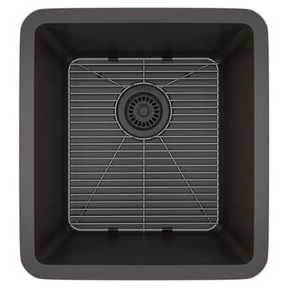 Lexicon Platinum Small Single Bowl Quartz Composite 16-1/2 x 18 x 8 in. D Kitchen Sink