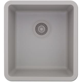 Lexicon Platinum Small Single Bowl Quartz Composite 16-1/2 x 18 x 8 in. D Kitchen Sink