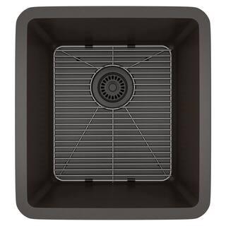 Lexicon Platinum Small Single Bowl Quartz Composite 16-1/2 x 18 x 8 in. D Kitchen Sink|https://ak1.ostkcdn.com/images/products/11607111/P18544762.jpg?impolicy=medium