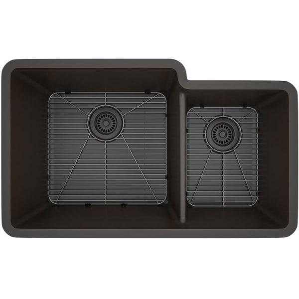 Lexicon Platinum Offset Double Bowl Quartz Composite 32 x 19 x 9 / 7-1/2 in. D Kitchen Sink. Opens flyout.