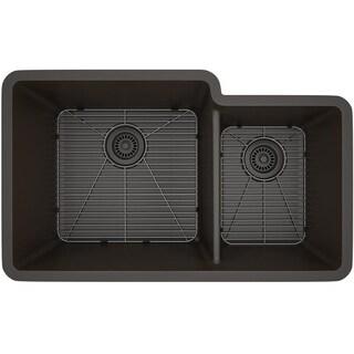Lexicon Platinum Offset Double Bowl Quartz Composite 32 x 19 x 9 / 7-1/2 in. D Kitchen Sink (5 options available)