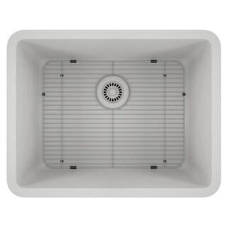 Lexicon Platinum Medium Single Bowl Quartz Composite Kitchen Sink (Option: Matte - White)