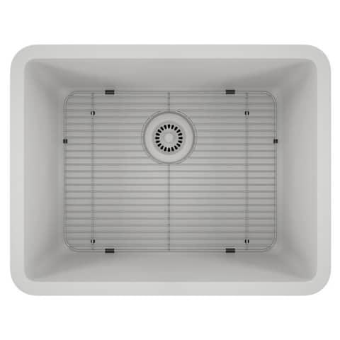 Lexicon Platinum Medium Single Bowl Quartz Composite Kitchen Sink