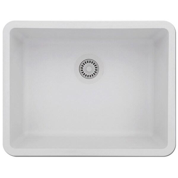 Charming Lexicon Platinum Medium Single Bowl Quartz Composite Kitchen Sink