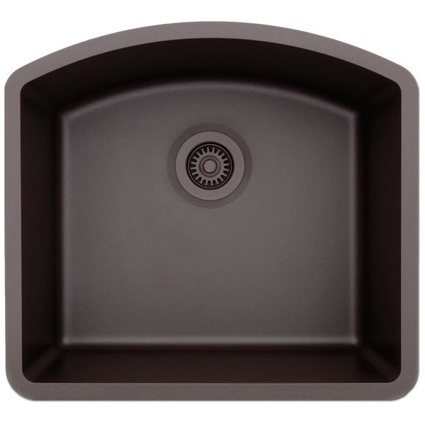 Lexicon Platinum D Shaped Single Bowl Quartz Composite Kitchen Sink