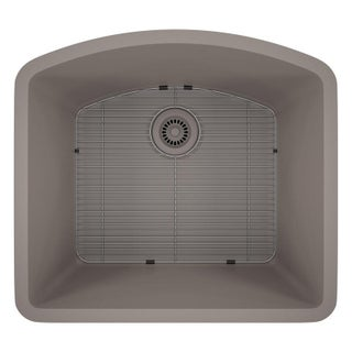 Lexicon Platinum D-shaped Single Bowl Quartz Composite Kitchen Sink